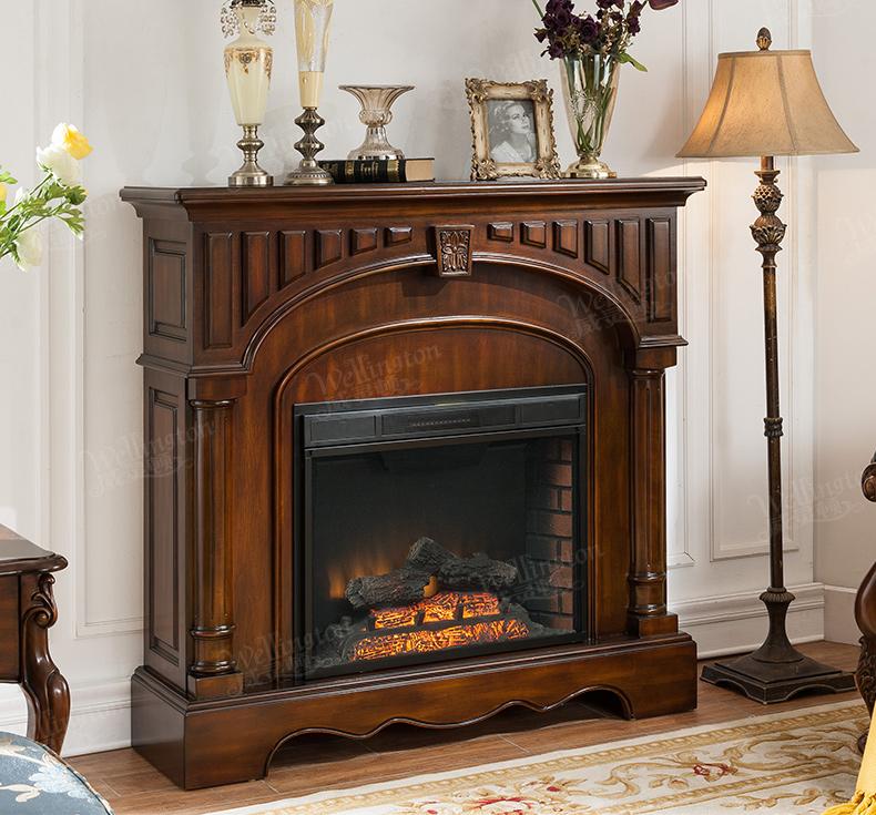 美式全实木壁炉简约客厅欧式壁炉取暖火炉装饰壁炉z603-2图片